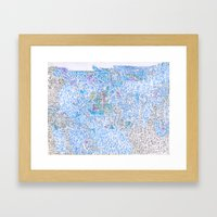 doomsday in blue Framed Art Print