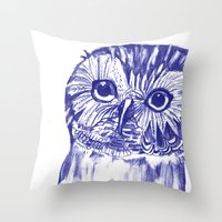 Another Owl Throw Pillow