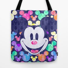 Mickey Mouse Head on Arrows Tote Bag