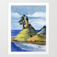 Peaceful Lighthouse IV Art Print