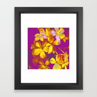 Framed Art Print featuring Yellow Flowers by Vitta