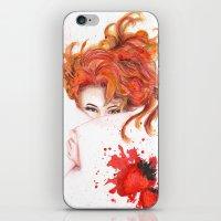 Peepin' Strawberries iPhone & iPod Skin