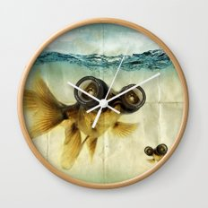 Fish eye lens 02 Wall Clock