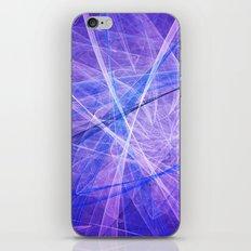 Blue burst iPhone & iPod Skin