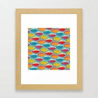 Abstract Shape Repeat Framed Art Print