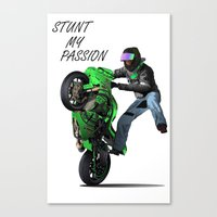 Stunt My Passion Canvas Print