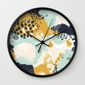 Tinsley - Abstract painting in bold, modern, bright colors Wall Clock