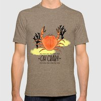 Oh Crab! Illustration Mens Fitted Tee Tri-Coffee SMALL