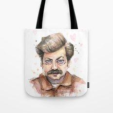 Swanson Love Valentine Portrait Tote Bag