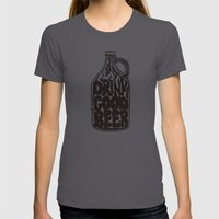 Drink Good Beer Womens Fitted Tee Asphalt SMALL