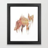 Remix Red Fox Framed Art Print
