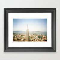 Transamerica Pyramid, San Francisco Framed Art Print