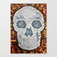 Galvanized Skull Canvas Print