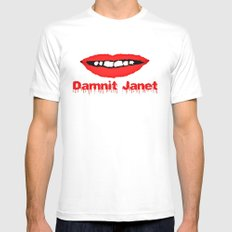 Damnit Janet! White Mens Fitted Tee SMALL