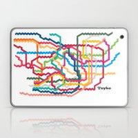 Tokyo Subway Map Laptop & iPad Skin