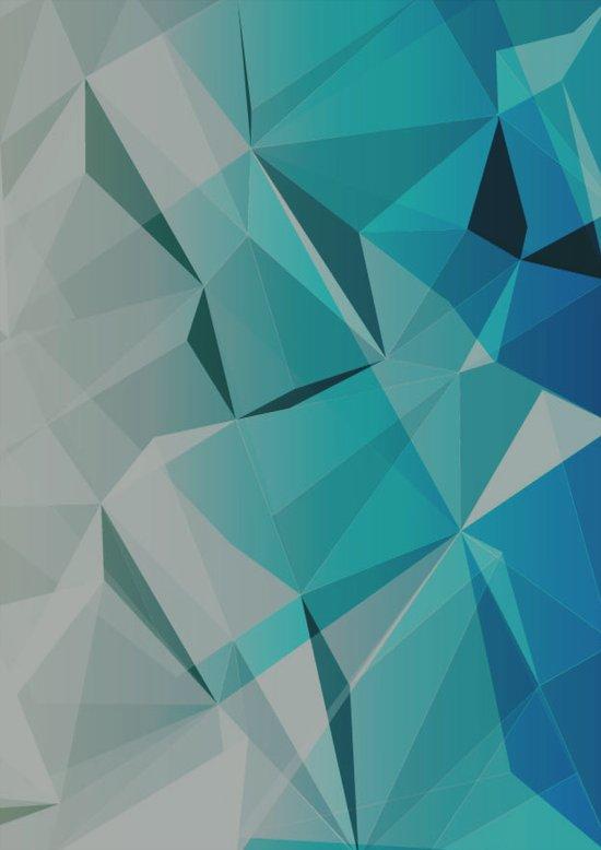 ORIGAMI BLUE Art Print