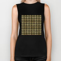 Triangles Black&Gold Biker Tank