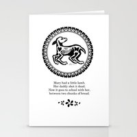 Mary Had A Little Lamb Stationery Cards