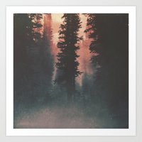 Smokey Forest Art Print