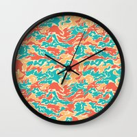 Hipster Camo Wall Clock