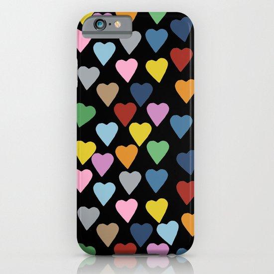 Hearts #3 Black iPhone & iPod Case