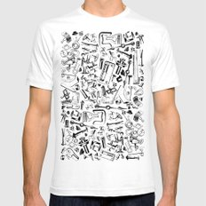 Hardware Black SMALL Mens Fitted Tee White