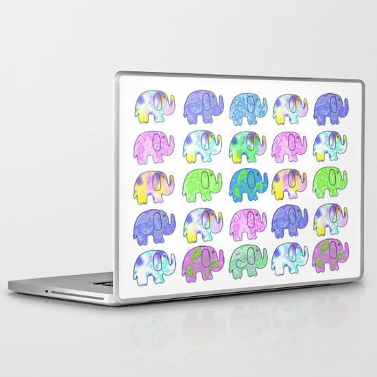Colorful Elephants  Laptop & iPad Skin