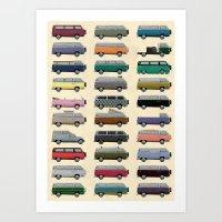 Camper Van Art Print