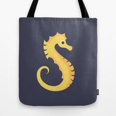 Letter S // Animal Alphabet // Seahorse Tote Bag