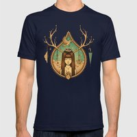 Autumn Delight Mens Fitted Tee Navy SMALL