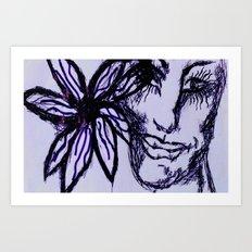 Flower Eyed Art Print