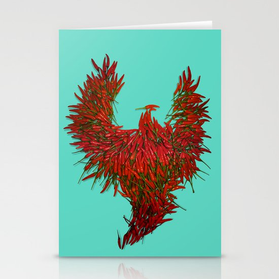 Hot Wings! Stationery Card