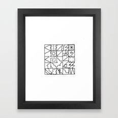 Vacancy zine 2 Framed Art Print