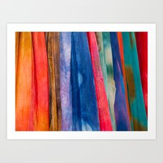 Behind the Curtains Art Print