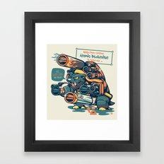 Atomic Blastoise  Framed Art Print