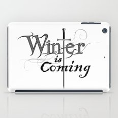 White winter is coming iPad Case