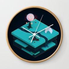 Earth Sandwich One, Variant C Wall Clock