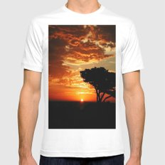 Firey Dragon  White Mens Fitted Tee SMALL