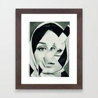 Frau mit Dreieck 1 Framed Art Print