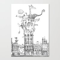 Odd Neighborhood Canvas Print