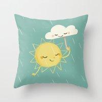 Little Sun Throw Pillow