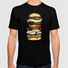 Now THIS is a burger. Black SMALL Mens Fitted Tee