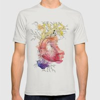 Branches Mens Fitted Tee Silver SMALL