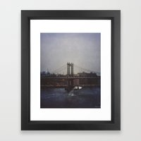 Manhattan Bridge of Whales Framed Art Print