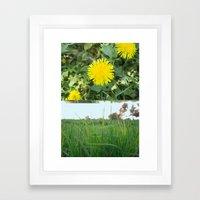 Grass Dandy Framed Art Print