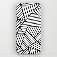 Abstraction Lines Close Up Black and White iPhone & iPod Skin