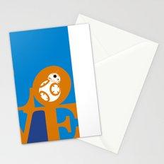 Robot LOVE - Orange Stationery Cards