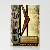 Vintage Arrow Motel Sign Stationery Cards