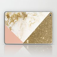 Gold Marble Collage Laptop & iPad Skin