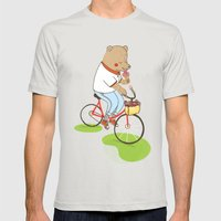Berlin Summer Ride Mens Fitted Tee Silver SMALL